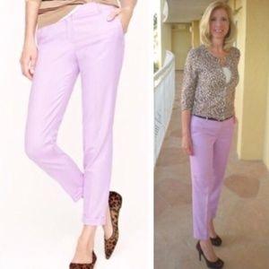 J. CREW Cafe Capri Wool Pants Lavender Lilac {W27}